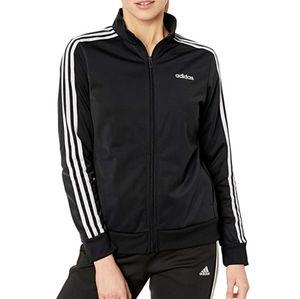 Adidas Black Dazzle Track Jacket 3 Stripes Sz XL